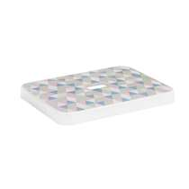 Sigma home opbergdeksel 24+32 liter - transparant/multikleur - 4x34,4x44,4 cm