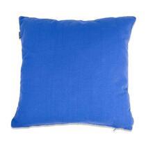 Le coussin décoratif Rover est un coussin bleu fabriqué à partir de coton tissé grossièrement. Doté d'un dessin joli.