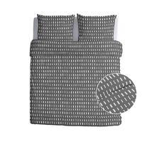 Walra dekbedovertrek Reversed Dashes - antraciet - 240x200/220 cm
