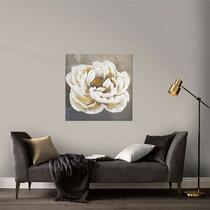 Art for the Home toile Rose - blanche - 80x80 cm