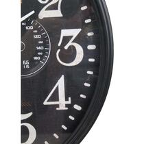 HSM Collection horloge murale Fabian - métal noir - 50 cm