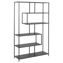Boekenkast Berkley - zwart - 185x114x35 cm