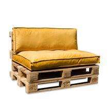 Maak van 3 pallets gemakkelijk een heerlijke zitplaats met deze palletkussens in een mooie zachte fluwelen stof.