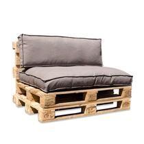 Maak van 3 pallets gemakkelijk een heerlijke zitplaats met deze palletkussens in een mooie stevige gemeleerde stof.