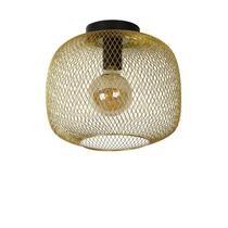 Lucide plafonnière Mesh - mat goud-/messingkleur - 30x25,5 cm
