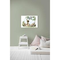 Art for the Home toile Bambi & ses amis - multicolore - 70x50 cm