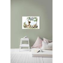 Art for the Home canvas Bambi & Vriendjes - veelkleurig - 70x50 cm