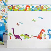 Art for the Home muursticker Dinosaurus 2x - multikleur - 25x75 cm