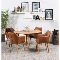 Eethoek Ulfborg Uppsala (tafel met 4 stoelen) - bruin