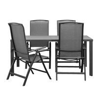 Le Sud salon de jardin Cannes chaise réglable Limousin - 5 pièces