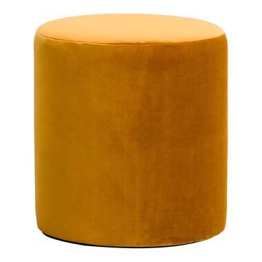 Hocker Wenen - geel - 40x37 cm - Leen Bakker