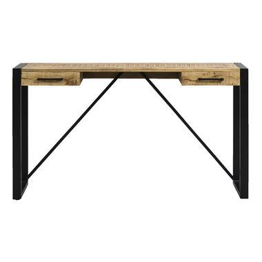 Bureau Kyan - zwart/naturel - 78x140x40 cm - Leen Bakker
