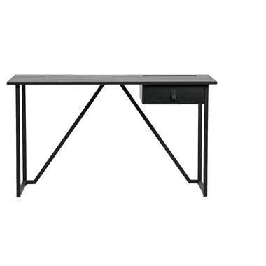 WOOOD Julius Bureau - zwart - 75x126x53 cm - Leen Bakker