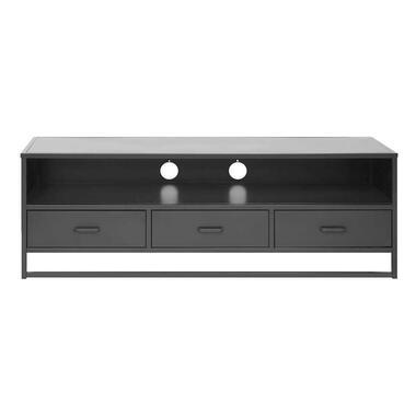 TV-meubel Aalborg - zwart - 50x148x45 cm - Leen Bakker