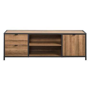 Tv-dressoir Bodhi - bruin/zwart - 45x140x39 cm - Leen Bakker