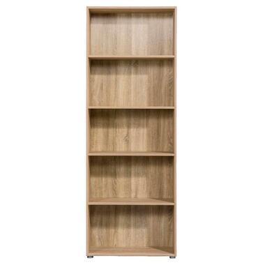 Boekenkast Rome - eikenkleur - 197x70x29,8 cm - Leen Bakker