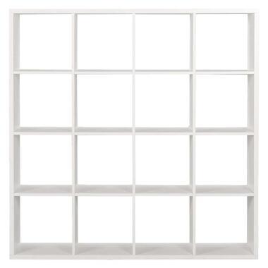 Roomdivider Parijs 16 vakken - wit - 141x141x33 cm - Leen Bakker