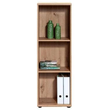 Boekenkast Belmont - eikenkleur - 123,5x41x35,5 cm - Leen Bakker