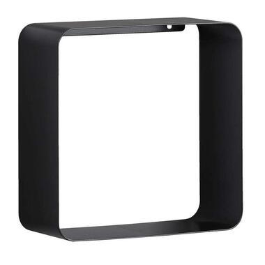 Wandkubus Duraline Steel - zwart - 28x28x12 cm - Leen Bakker