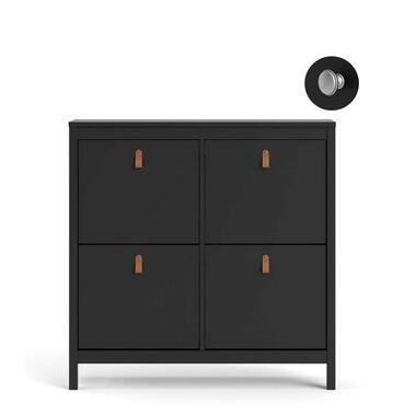 Schoenenkast Madeira - zwart - 103x102x25 cm - Leen Bakker