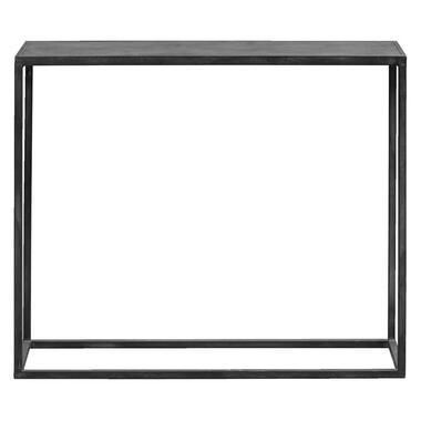 Sidetable Jayden zwart 80x69x25 cm Leen Bakker