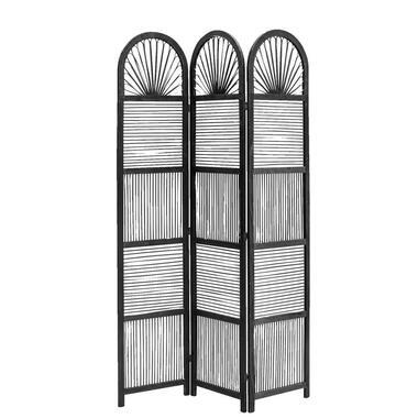 Kamerscherm Milan - zwart - 180x120x2,5 cm - Leen Bakker