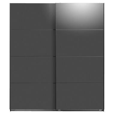 Schuifdeurkast Dallas antraciet softclose - 210x180x65 cm