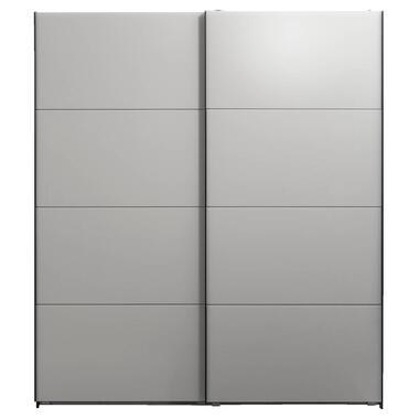 Schuifdeurkast Dallas antraciet/grijs softclose - 210x180x65 cm