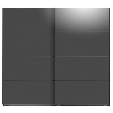 Schuifdeurkast Dallas antraciet softclose - 210x225x65 cm