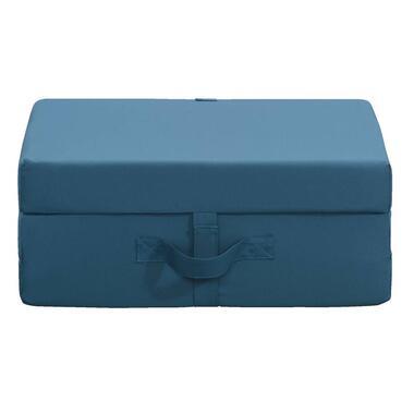 Opvouwbaar matras Rumba - blauw - 70x190x9 cm