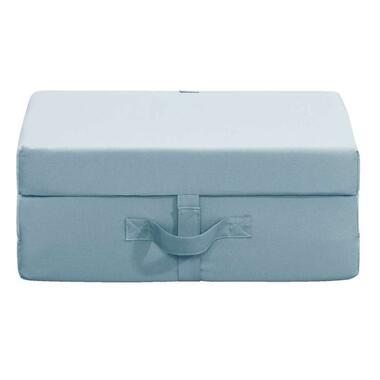 Opvouwbaar matras Rumba - steenblauw - 70x190x9 cm