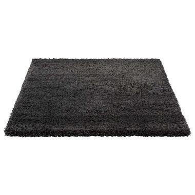 Vloerkleed Luxus - antraciet - 200x290 cm - Leen Bakker