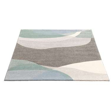 Vloerkleed Sevilla - grijs/groen - 160x230 cm - Leen Bakker