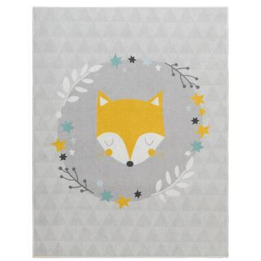 Vloerkleed Mood Sleepy Fox - blauw - 95x125 cm - Leen Bakker