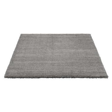 Vloerkleed Pelush - donkergrijs - 160x230 cm - Leen Bakker