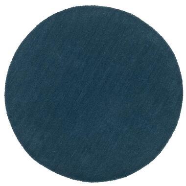 Vloerkleed Colours - petrol - Ø68 cm - Leen Bakker