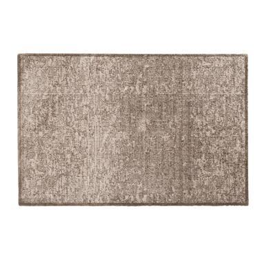 Mat Soft & Deco Velvet - beige - 67x100 cm - Leen Bakker