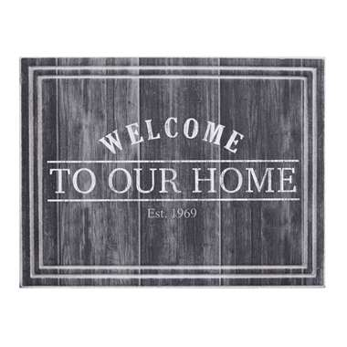 Ecomat Tradition Welcome To Our Home - antraciet - 45x60 cm - Leen Bakker