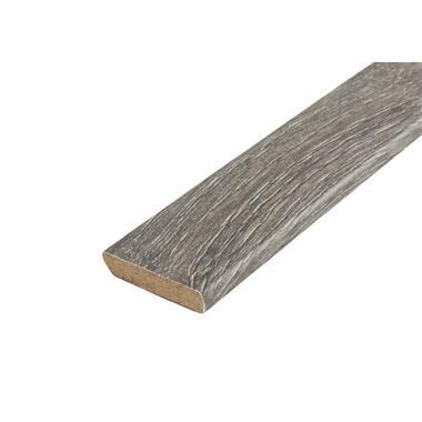 Plakplint Luxparade San Diego Oak - donkerbruin - 240x2,2x0,5 cm - Leen Bakker