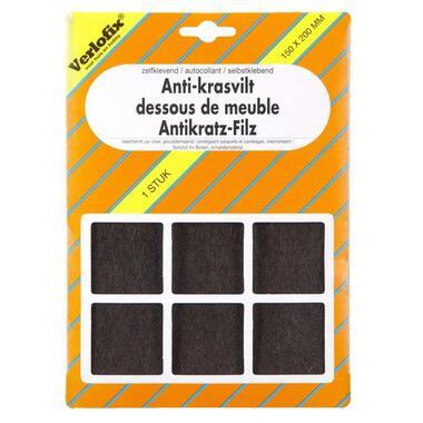 Verlofix anti-krasvilt - bruin - 150X200mm - Leen Bakker