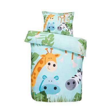 Comfort peuterdekbedovertrek Zoey blauw 120x150 cm Leen Bakker