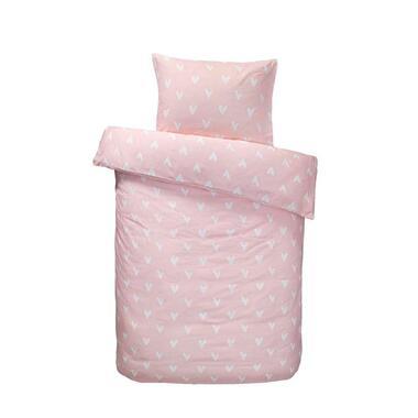 Easy dekbedovertrek Elaine - roze - 120x150 cm