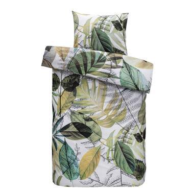 Comfort dekbedovertrek Chloe - groen - 140x200/220 cm - Leen Bakker