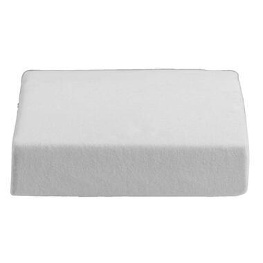 Molton zware kwaliteit - wit - 180x200 cm - Leen Bakker