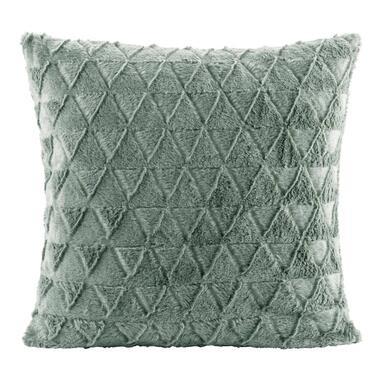 Sierkussen Nynke - groen - 45x45 cm - Leen Bakker
