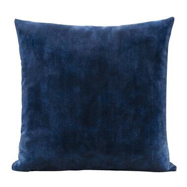 Sierkussen Joel - donkerblauw - 45x45 cm - Leen Bakker