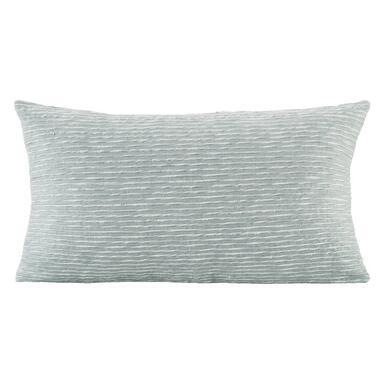 Sierkussen Ben - grijs/groen - 30x50 cm - Leen Bakker