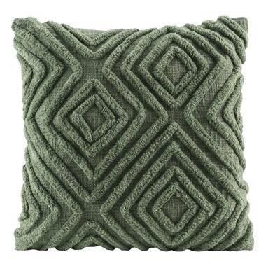 Sierkussen Jop - groen - 45x45 cm - Leen Bakker
