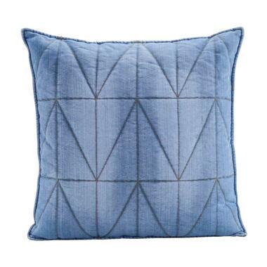 Woonkussen Levi - blauw - 60x60 cm - Leen Bakker