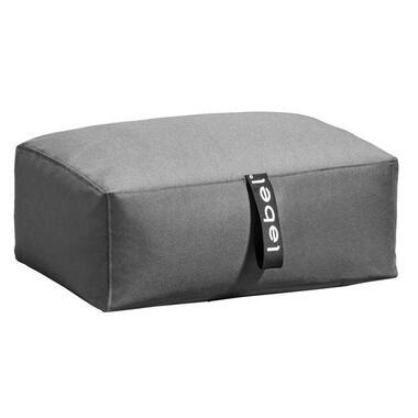 Lebel poef Lounger - antraciet - 70x45x30 cm - Leen Bakker